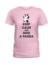 Keep Calm And Hug Panda Ladies T-Shirt front