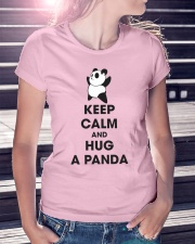 Keep Calm And Hug Panda Ladies T-Shirt lifestyle-women-crewneck-front-7