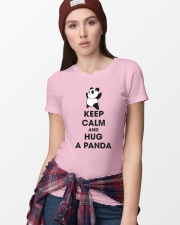 Keep Calm And Hug Panda Ladies T-Shirt lifestyle-women-crewneck-front-9