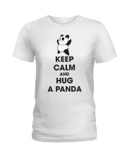 Keep Calm And Hug Panda Ladies T-Shirt tile