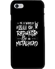 METAL GIRL WITH TATTOOS Phone Case tile