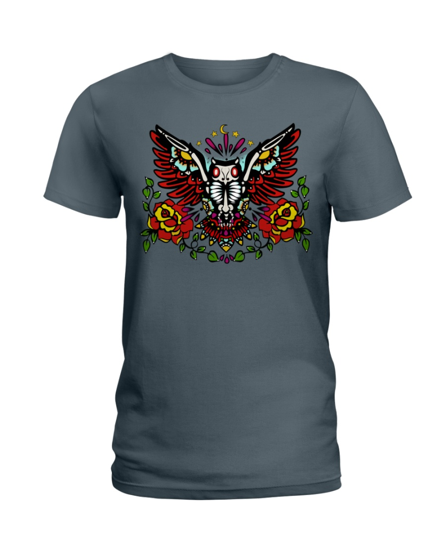 OWL THE DAY OF DEAD Ladies T-Shirt