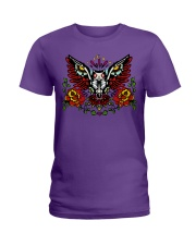 OWL THE DAY OF DEAD Ladies T-Shirt thumbnail