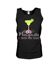 MARGARITA IS CHEAPER THAN THERAPY Unisex Tank thumbnail