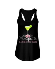 MARGARITA IS CHEAPER THAN THERAPY Ladies Flowy Tank thumbnail