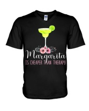 MARGARITA IS CHEAPER THAN THERAPY V-Neck T-Shirt thumbnail