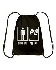 YOUR DAD MY DAD Drawstring Bag thumbnail