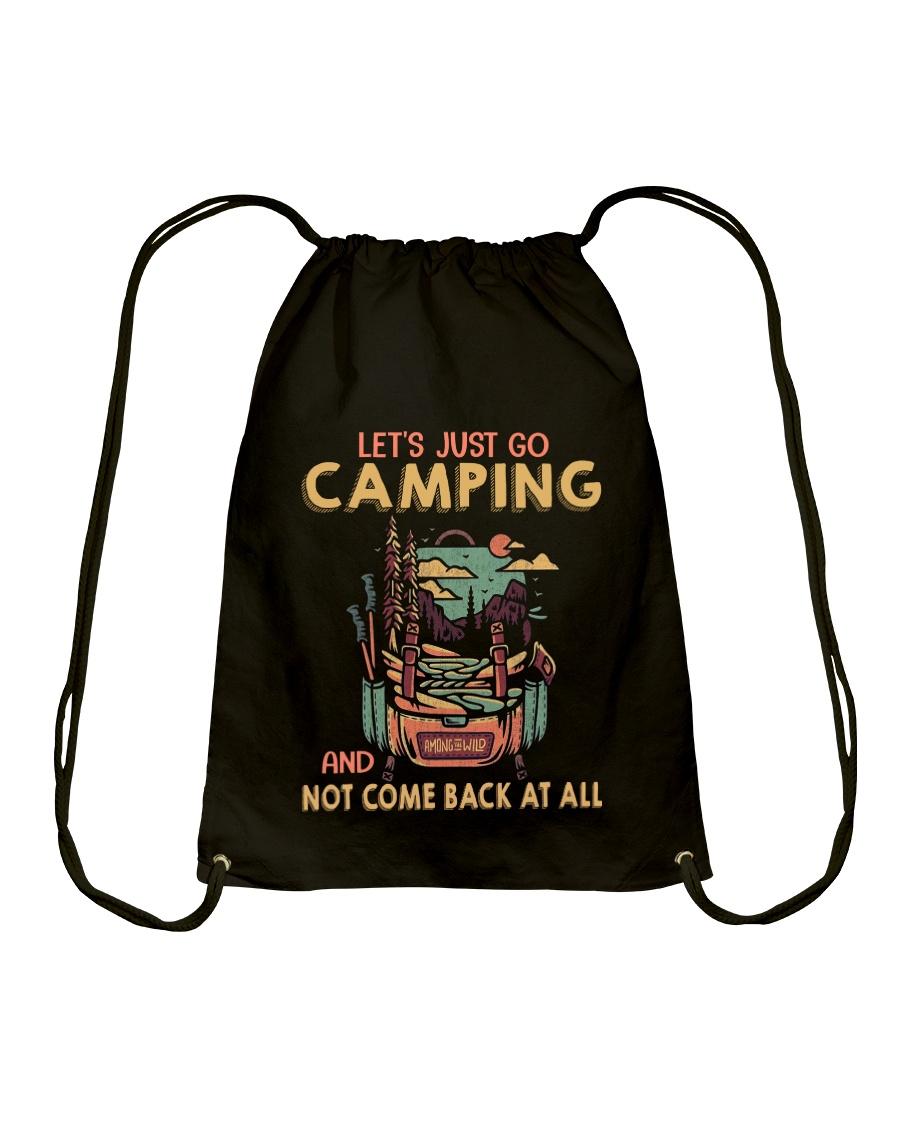 LET'S JUST GO CAMPING Drawstring Bag