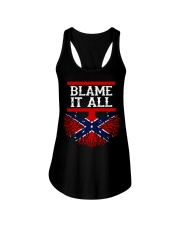 BLAME IT ALL MY ROOTS Ladies Flowy Tank thumbnail