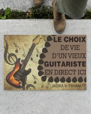 """Le choix de vie dun vieux guitariste en direct ici Doormat 22.5"""" x 15""""  aos-doormat-22-5x15-lifestyle-front-01"""