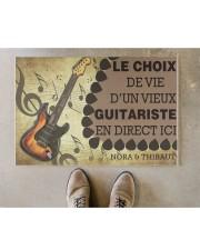 """Le choix de vie dun vieux guitariste en direct ici Doormat 22.5"""" x 15""""  aos-doormat-22-5x15-lifestyle-front-04"""