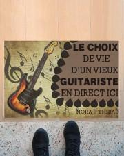 """Le choix de vie dun vieux guitariste en direct ici Doormat 22.5"""" x 15""""  aos-doormat-22-5x15-lifestyle-front-10"""