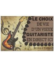 """Le choix de vie dun vieux guitariste en direct ici Doormat 22.5"""" x 15""""  front"""