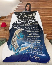 """To My Daughter - Mom Fleece Blanket Large Sherpa Fleece Blanket - 60"""" x 80"""" aos-sherpa-fleece-blanket-60x80-lifestyle-front-11"""