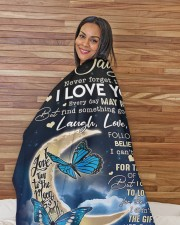 """To My Daughter - Mom Fleece Blanket Large Sherpa Fleece Blanket - 60"""" x 80"""" aos-sherpa-fleece-blanket-60x80-lifestyle-front-12"""