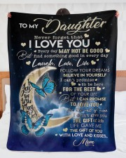 """To My Daughter - Mom Fleece Blanket Large Sherpa Fleece Blanket - 60"""" x 80"""" aos-sherpa-fleece-blanket-60x80-lifestyle-front-23"""