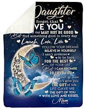 """To My Daughter - Mom Fleece Blanket Large Sherpa Fleece Blanket - 60"""" x 80"""" front"""