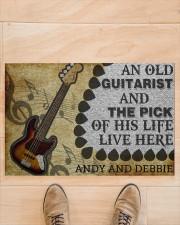 "An Old Guitarist Doormat 22.5"" x 15""  aos-doormat-22-5x15-lifestyle-front-02"