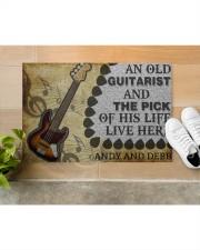 "An Old Guitarist Doormat 22.5"" x 15""  aos-doormat-22-5x15-lifestyle-front-12"