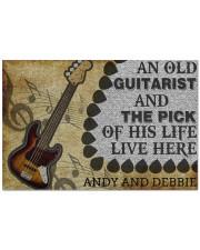 """An Old Guitarist Doormat 22.5"""" x 15""""  front"""