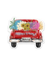 Happiness Is Being A Nonna - Truck Art Sticker - Single (Horizontal) front