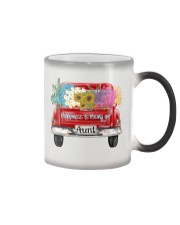 Happiness Is Being An Aunt - Truck Art Color Changing Mug tile