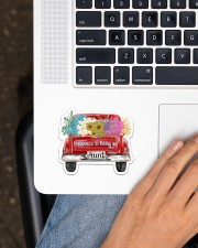 Happiness Is Being An Aunt - Truck Art Sticker - Single (Horizontal) aos-sticker-single-horizontal-lifestyle-front-11