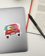 Happiness Is Being An Aunt - Truck Art Sticker - Single (Horizontal) aos-sticker-single-horizontal-lifestyle-front-13