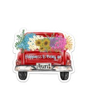 Happiness Is Being An Aunt - Truck Art Sticker - Single (Horizontal) front
