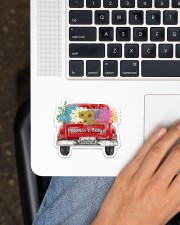 Happiness Is Being A Grandma - Truck Art Sticker - Single (Horizontal) aos-sticker-single-horizontal-lifestyle-front-11