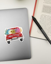 Happiness Is Being A Grandma - Truck Art Sticker - Single (Horizontal) aos-sticker-single-horizontal-lifestyle-front-13