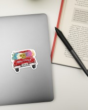 Happiness Is Being An Oma - Truck Art Sticker - Single (Horizontal) aos-sticker-single-horizontal-lifestyle-front-13