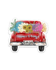 Happiness Is Being A Gaga - Truck Art Sticker - Single (Horizontal) front