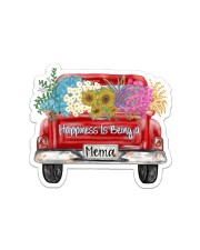 Happiness Is Being A Mema - Truck Art Sticker - Single (Horizontal) front