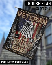 """Veteran For Trump 29.5""""x39.5"""" House Flag aos-house-flag-29-5-x-39-5-ghosted-lifestyle-09"""