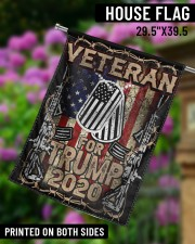 """Veteran For Trump 29.5""""x39.5"""" House Flag aos-house-flag-29-5-x-39-5-ghosted-lifestyle-14"""