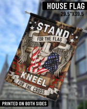 "Stand For The Flag Kneel For The Cross - 1 29.5""x39.5"" House Flag aos-house-flag-29-5-x-39-5-ghosted-lifestyle-09"