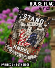 "Stand For The Flag Kneel For The Cross - 1 29.5""x39.5"" House Flag aos-house-flag-29-5-x-39-5-ghosted-lifestyle-14"