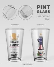 America First 16oz Pint Glass - 2 pieces aos-16oz-pint-glass-2pcs-lifestyle-front-21