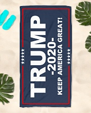 Trump - Keep America Great Beach Towel aos-towelbeach-vertical-front-lifestyle-2