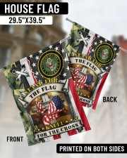 """Stand For The Flag Kneel For The Cross  29.5""""x39.5"""" House Flag aos-house-flag-29-5-x-39-5-ghosted-lifestyle-02"""