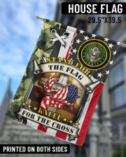 """Stand For The Flag Kneel For The Cross  29.5""""x39.5"""" House Flag aos-house-flag-29-5-x-39-5-ghosted-lifestyle-09"""