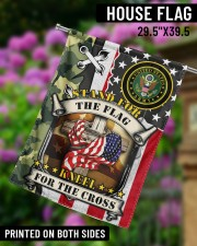 """Stand For The Flag Kneel For The Cross  29.5""""x39.5"""" House Flag aos-house-flag-29-5-x-39-5-ghosted-lifestyle-14"""