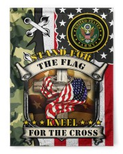 """Stand For The Flag Kneel For The Cross  29.5""""x39.5"""" House Flag front"""