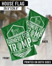"Farmers For Trump 29.5""x39.5"" House Flag aos-house-flag-29-5-x-39-5-ghosted-lifestyle-02"