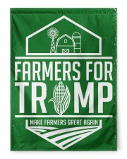 """Farmers For Trump 29.5""""x39.5"""" House Flag front"""