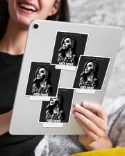 Fake News Assassin Sticker - 4 pack (Vertical) aos-sticker-4-pack-vertical-lifestyle-front-13