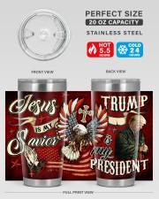 Jesus Is My Savior - Trump Is My President 20oz Tumbler aos-20oz-tumbler-lifestyle-front-60