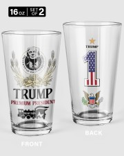 America First - Set Of 2 16oz Pint Glass - 2 pieces front