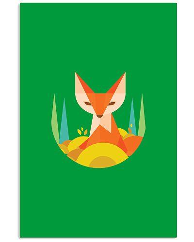fox cute geometric tribal cartoon animal